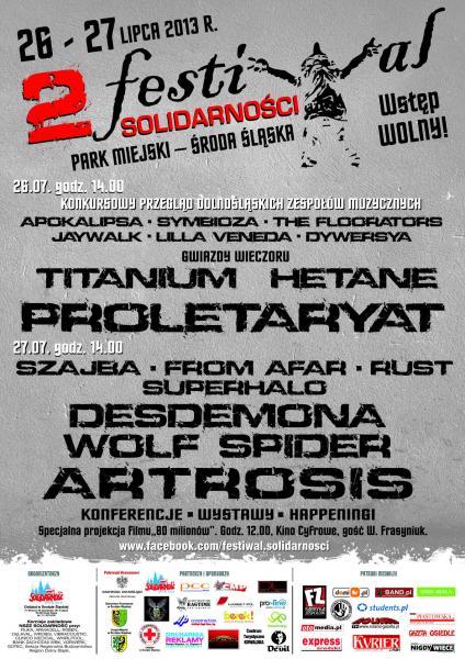 II edycja Festiwalu Solidarności wŚrodzie Śląskiej