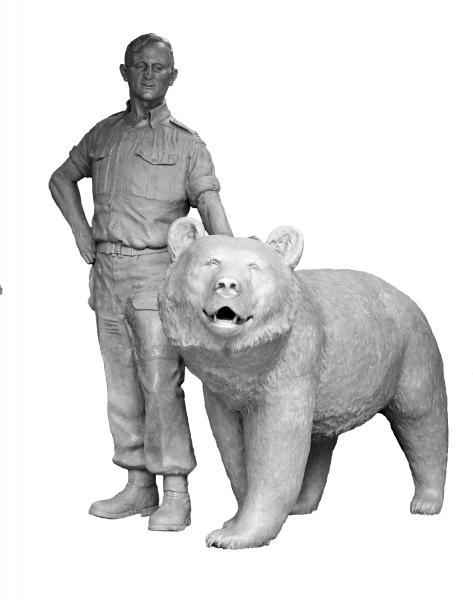 Niedźwiedź Wojtek – na ziemi polskiej wSzkocji