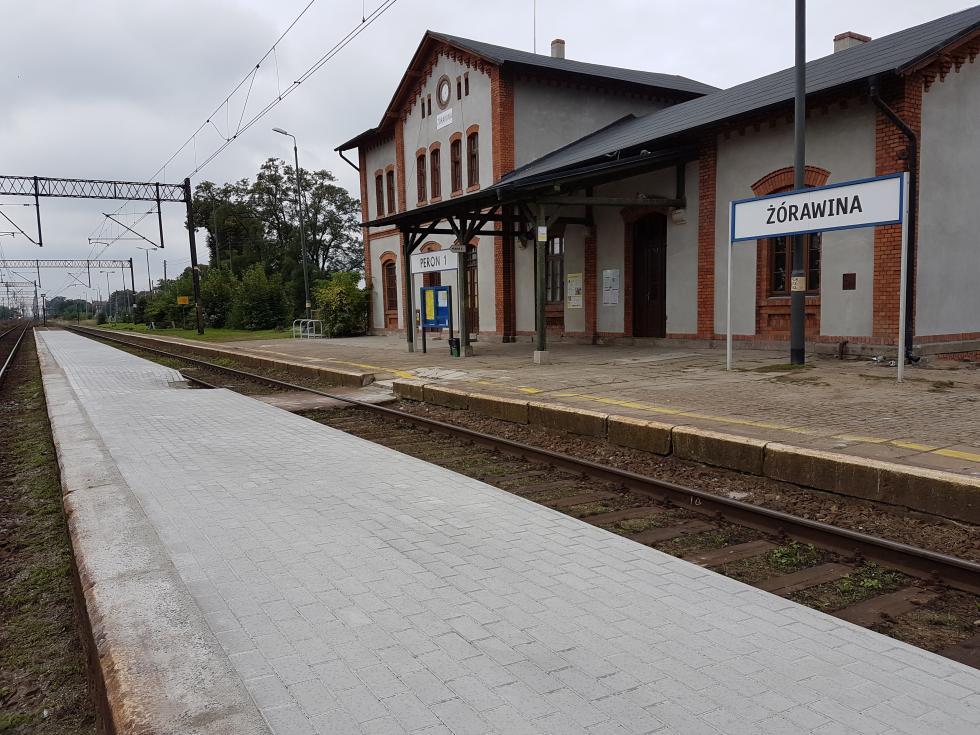 Remont peronu dworca kolejowego wŻórawinie