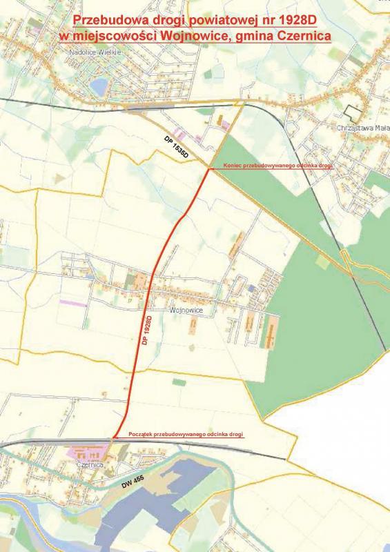 Przebudowa drogi powiatowej Czernica-Wojnowice