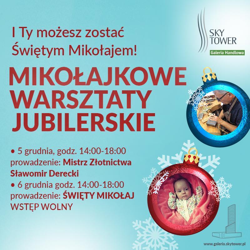 Mikołajkowe charytatywne warsztaty jubilerskie wSky Tower