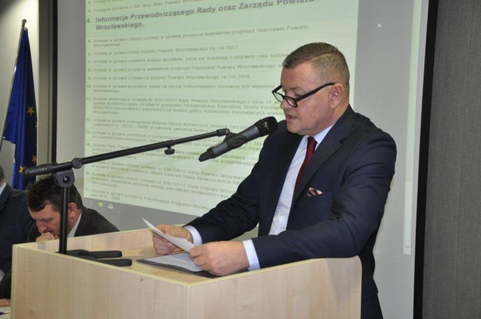 XX Sesja Rady Powiatu Wrocławskiego