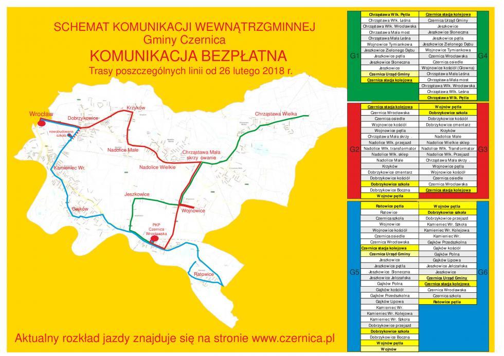 Modyfikacja trasy niektórych autobusów komunikacji wewnątrzgminnej