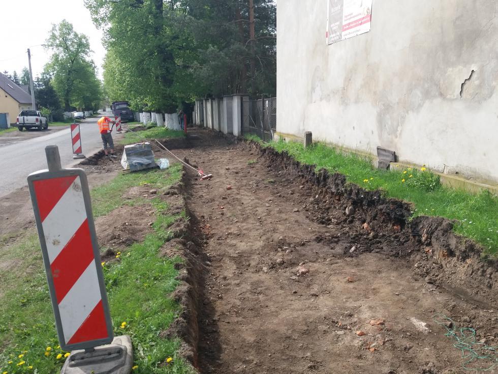 Budowa chodnika wGalowicach