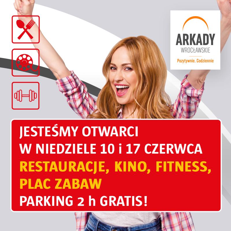 Arkady Wrocławskie zapraszają wczerwcowe niedziele niehandlowe