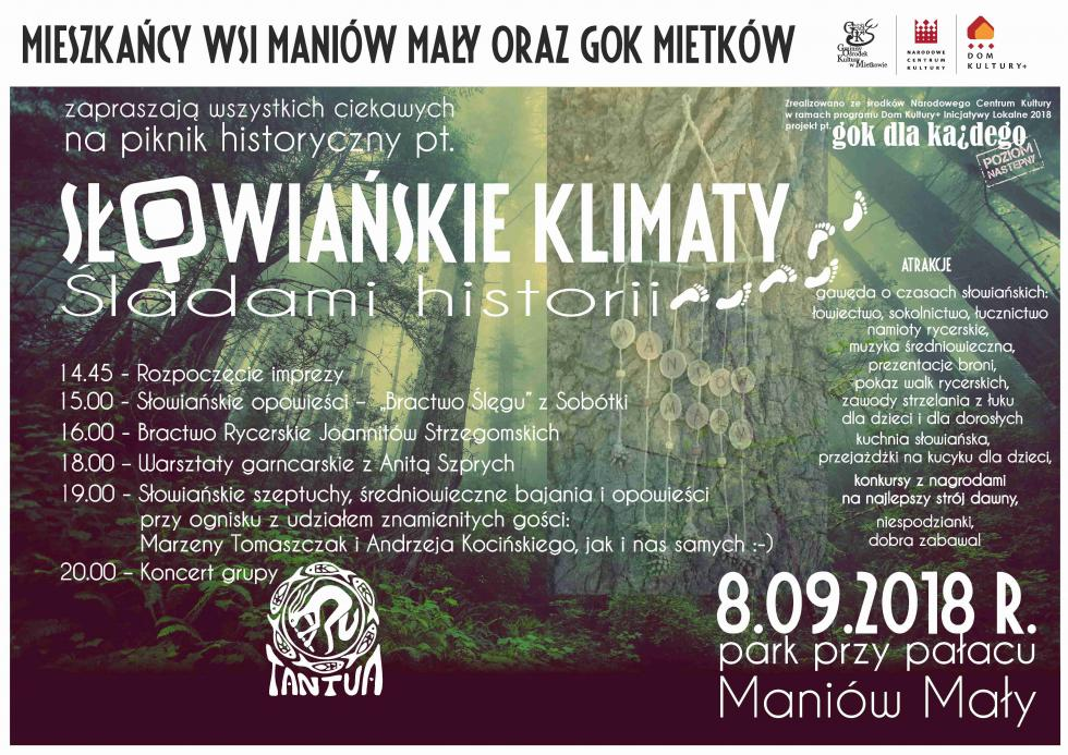 """Smakowanie historii, czyli """"Słowiańskie Klimaty"""" wgminie Mietków"""