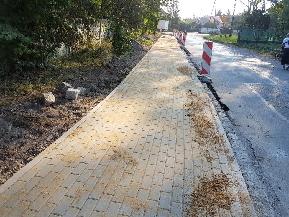 Budowa chodnika wWilczkowie