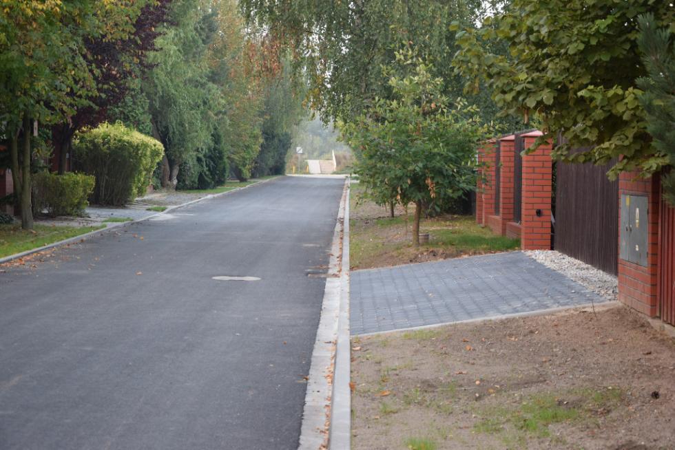 Ulica Podwale wKamieńcu Wrocławskim przebudowana