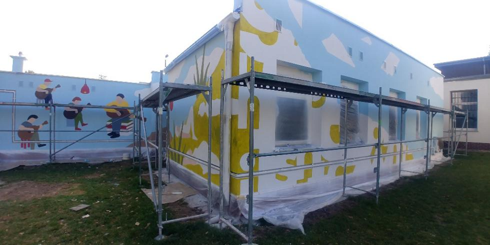 Pierwszy profesjonalny mural na terenie gminy Czernica
