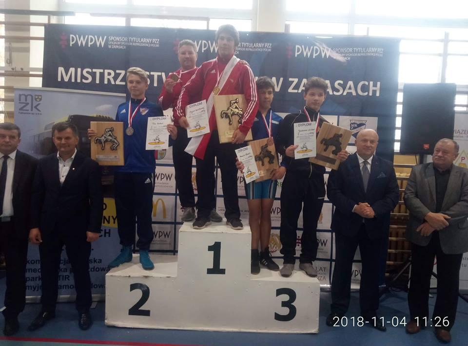 Bartłomiej Myjak zUKS Tygrysy Smolec został Mistrzem Polski wzapasach