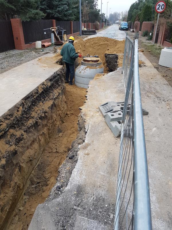 Budowa kanalizacji sanitarnej wschód – etap II – Mokronos Dolny