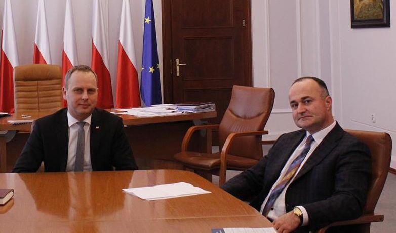 Burmistrz Milan Ušák spotkał się zwojewodą