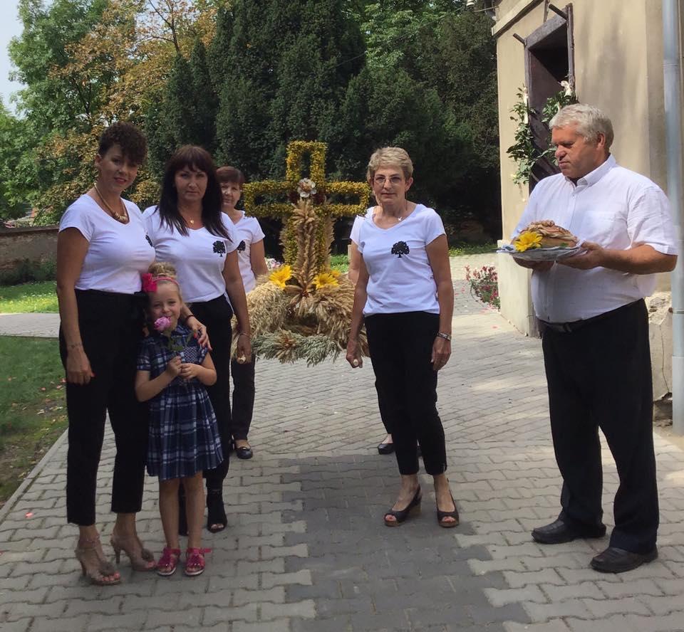 Poświęcenie wieńca dożynkowego wsi Proszkowice