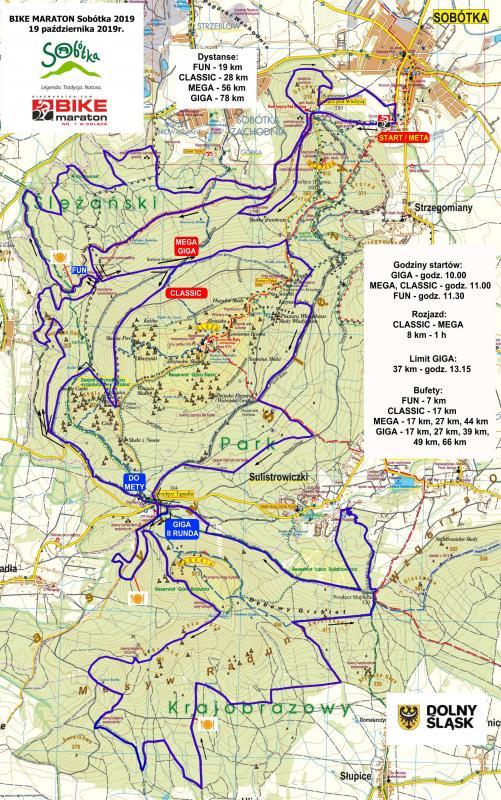Witamy wSobótce! Finał Bike Maratonu 2019 – zobacz mapę iprofile