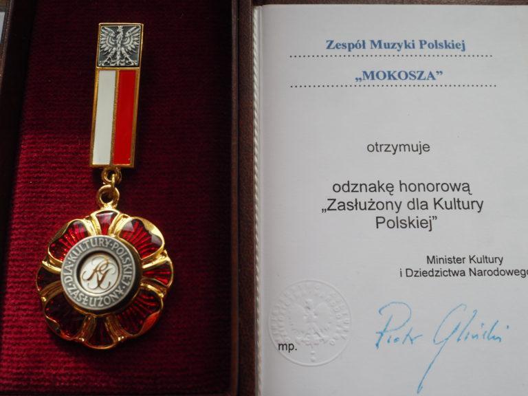 Zespół Muzyki Polskiej MOKOSZA odznaczony!