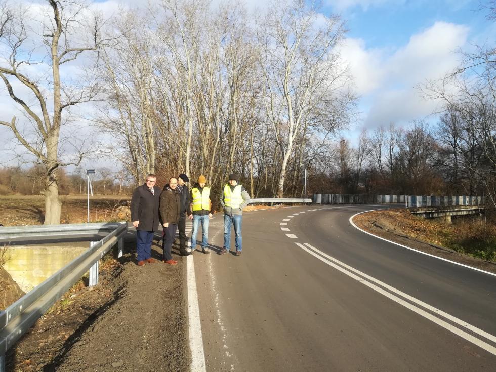 Odbiór drogi powiatowej Karwiany- Komorowice iSzukalice wgminie Żórawina
