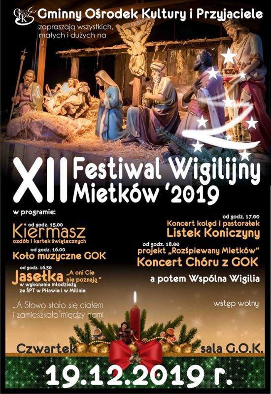 Festiwal Wigilijny wMietkowie