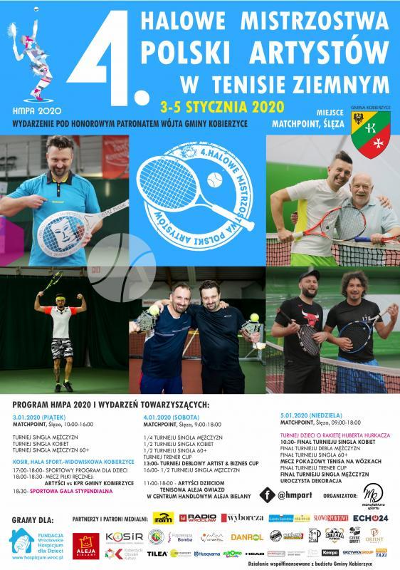 Zapraszamy na 4. Edycję Halowych Mistrzostw Polski Artystów wTenisie Ziemnym