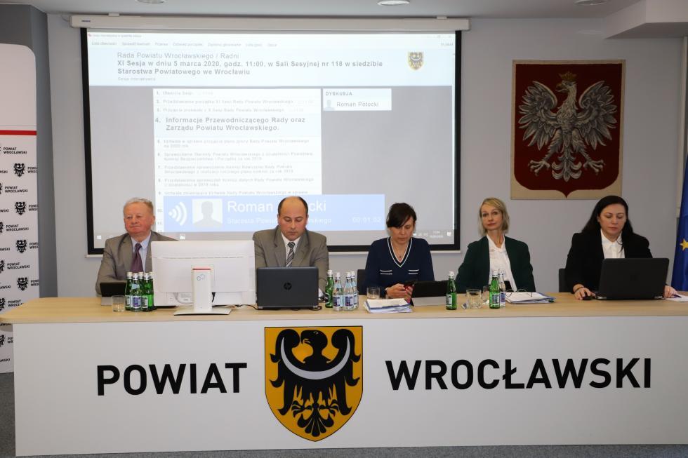 XI Sesja Rady Powiatu Wrocławskiego