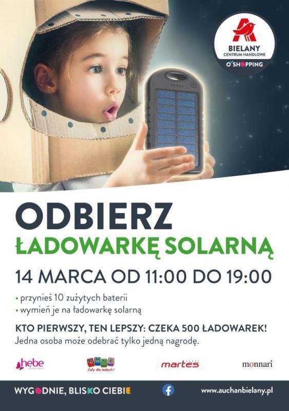 Wymień zużyte baterie na solarny power bank izadbaj ośrodowisko