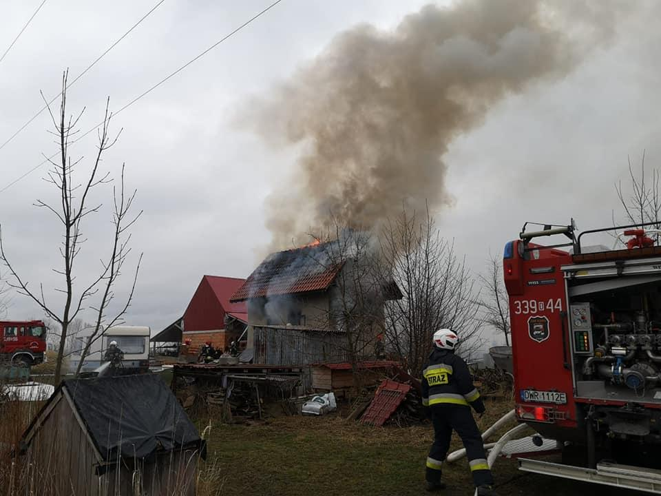 Spłonął dom wŻernikach Wielkich