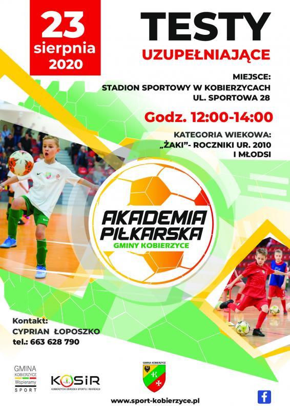 Akademia Piłkarska Gminy Kobierzyce zaprasza na treningi!