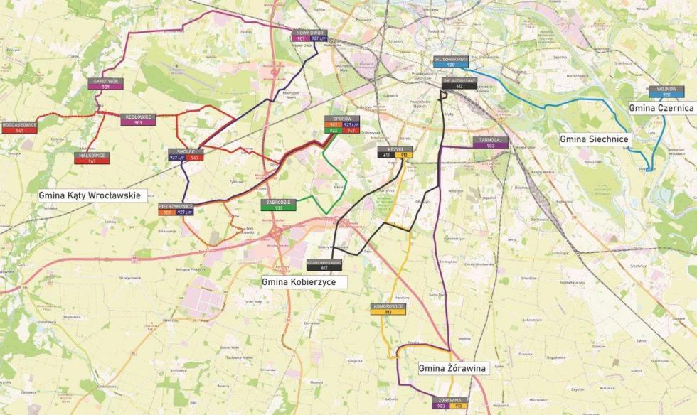 Przetarg na obsługę nowych linii autobusowych dla 5 gmin Aglomeracji Wrocławskiej