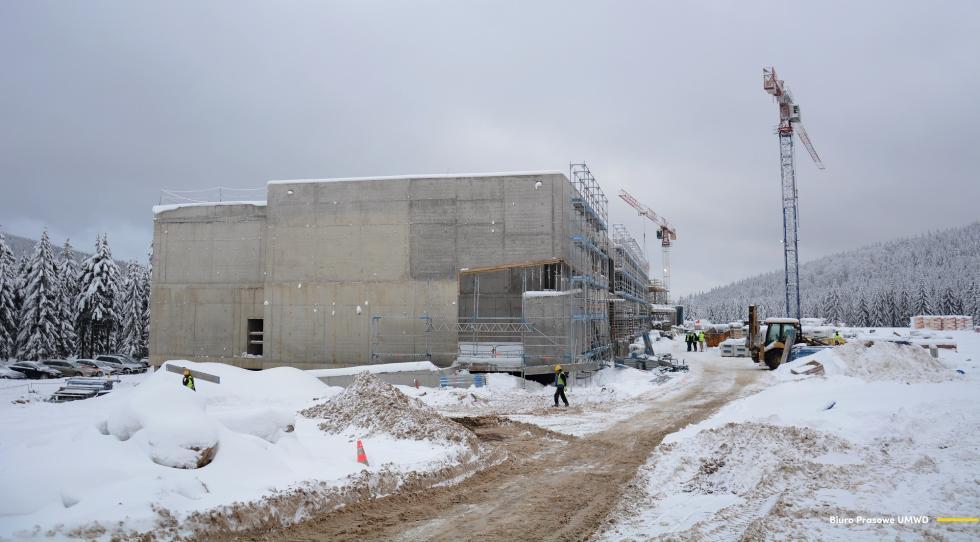 Trwa budowa Dolnośląskiego Centrum Sportu na Polanie Jakuszyckiej