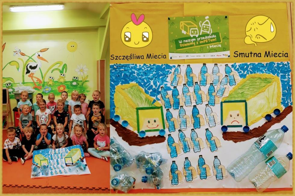 Kreatywne przedszkolaki uczestniczą wprojekcie: Działaj zImPETem iMiecią oraz wkonkursie