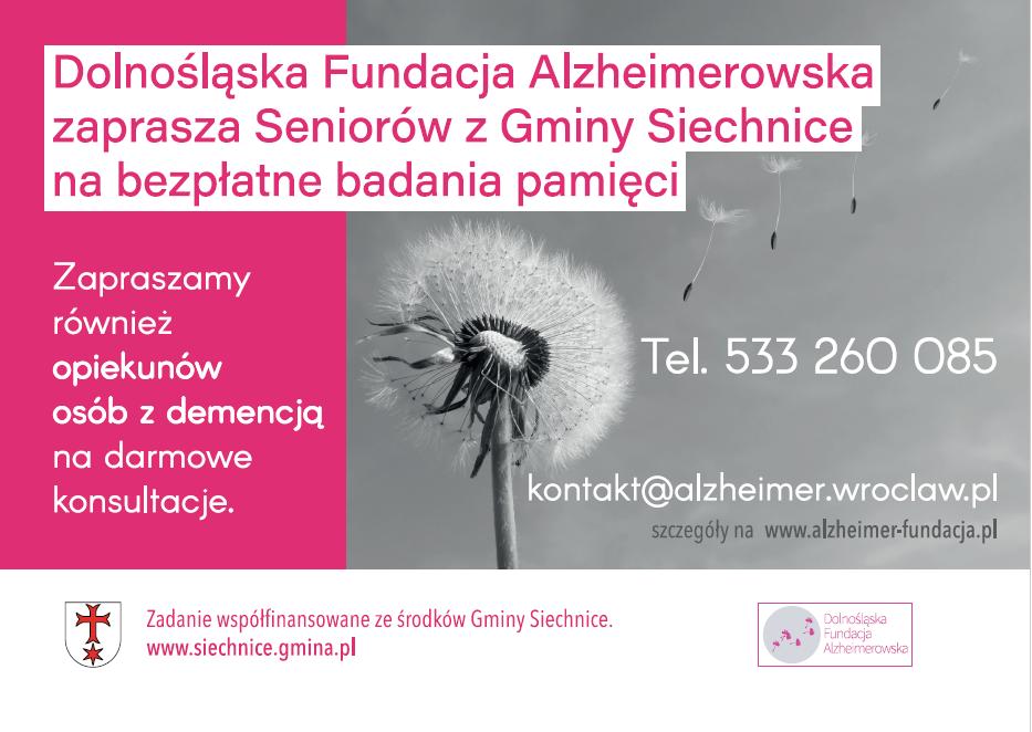 Bezpłatne badania pamięci dla mieszkańców Gminy Siechnice