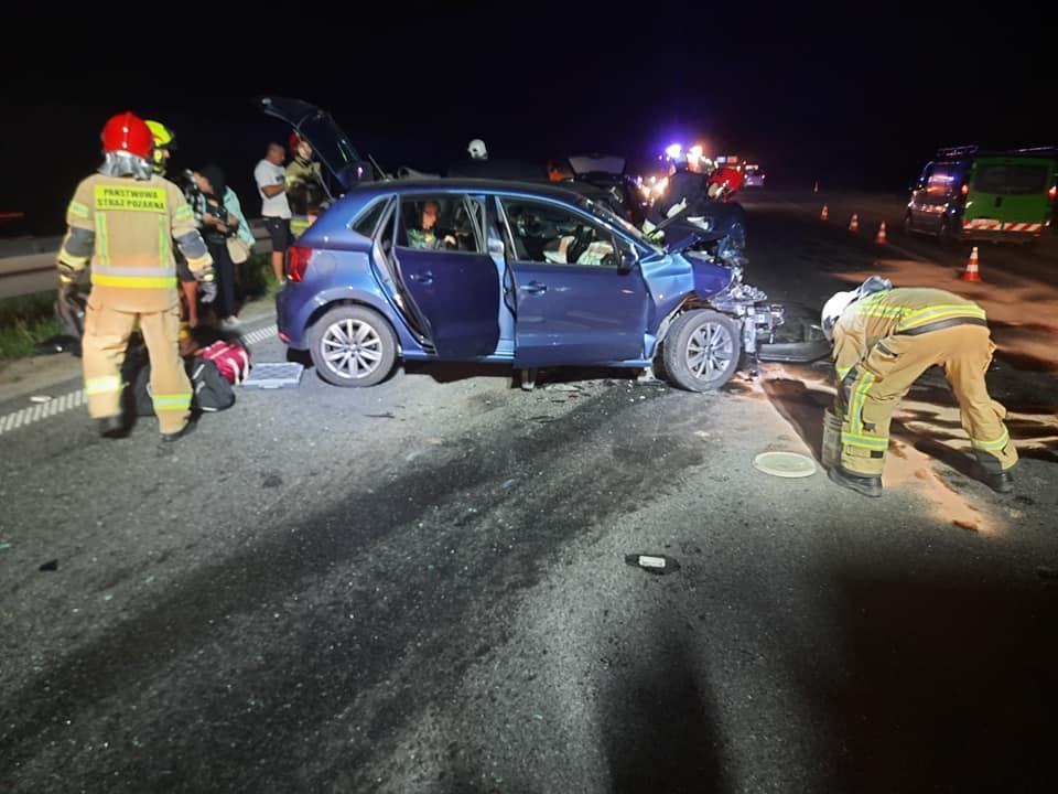 Zderzenie czterech samochodów