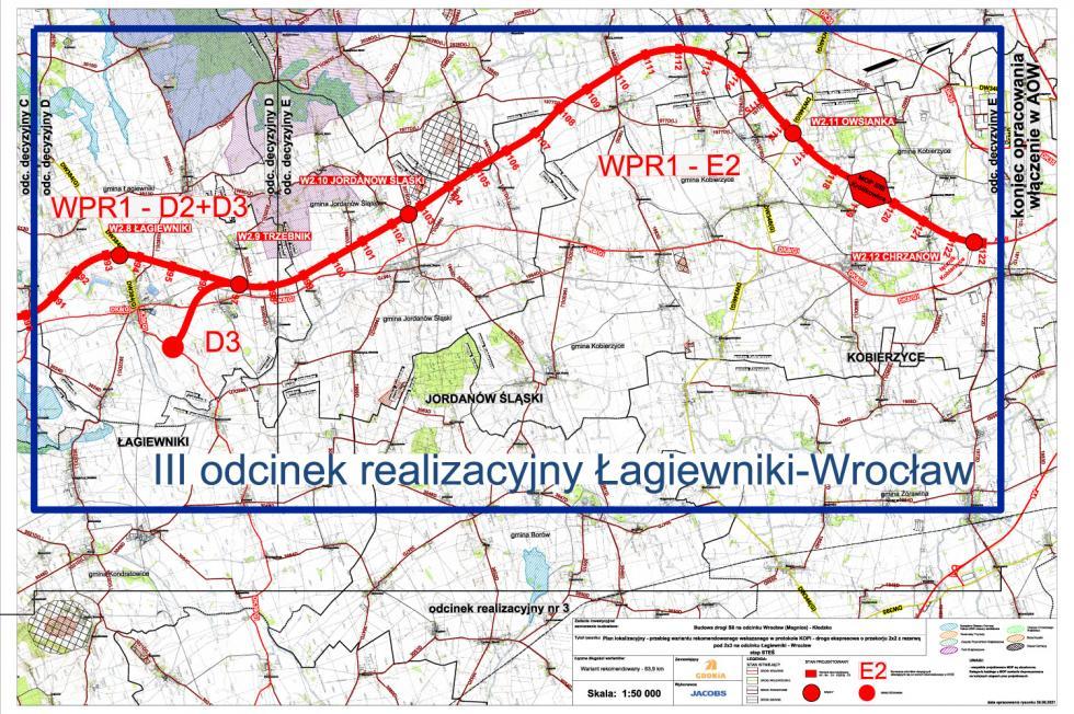S8 Wrocław – Kłodzko. Jest decyzja środowiskowa dla odcinka między Łagiewnikami a Wrocławiem – wybrano wariant drogi