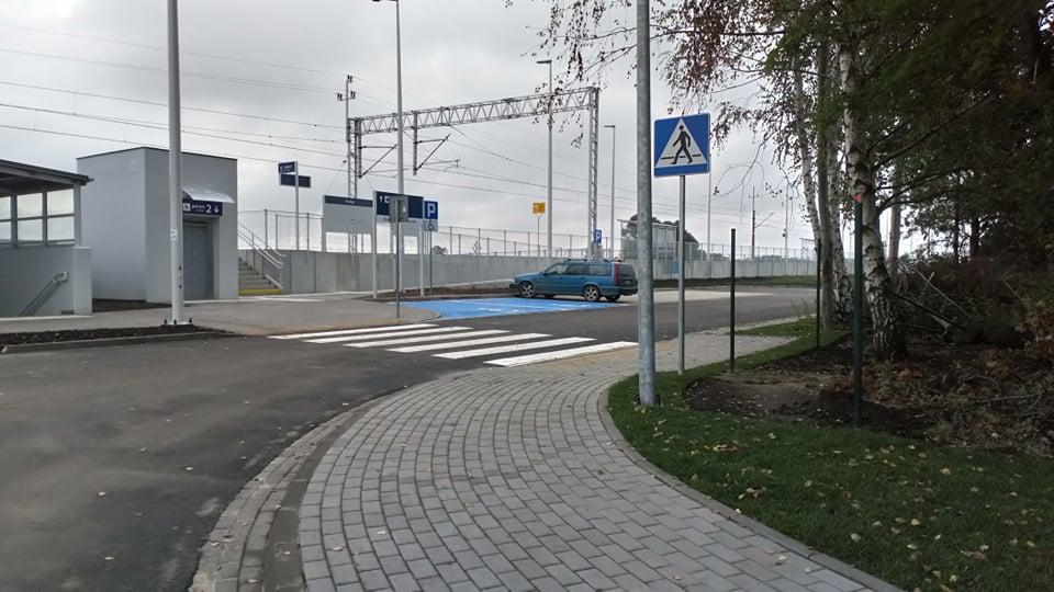 Rozpoczęto procedurę odbioru drogi dojazdowej doprzystanku kolejowego wIwinach